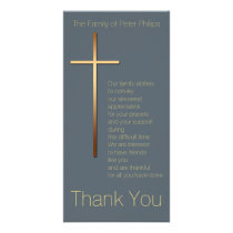 Golden Cross Sympathy Thank You Choose Color 1 Card