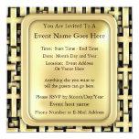 """Golden Crosses 5.25"""" Square Invitation Card"""