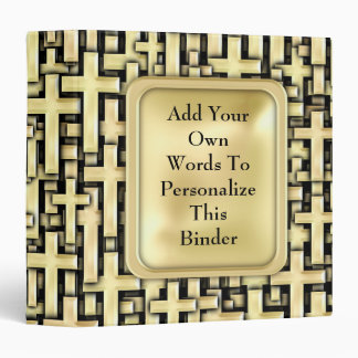 Golden Crosses Binder