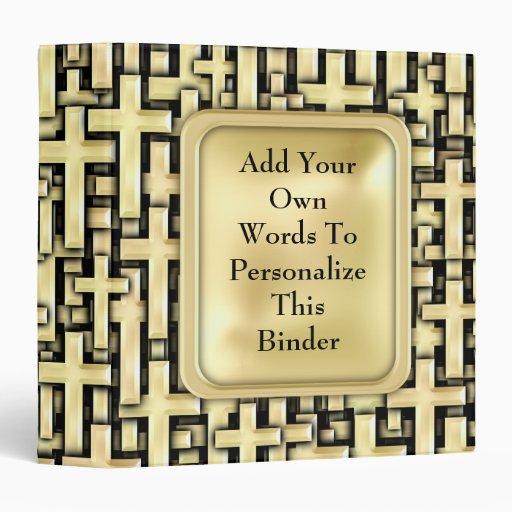 Golden Crosses Binder