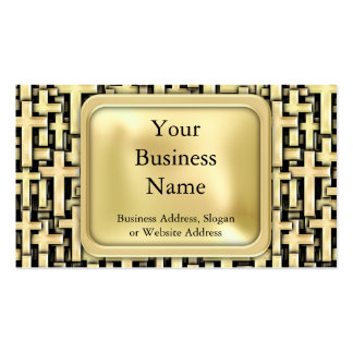 Golden Crosses Business Card Templates