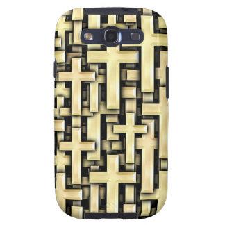 Golden Crosses Galaxy S3 Cover