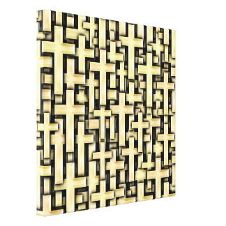 Golden Crosses Gallery Wrapped Canvas