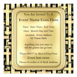 Golden Crosses Personalized Announcement