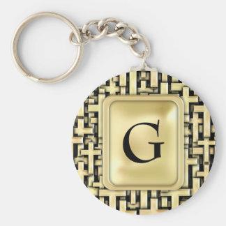 Golden Crosses Keychain