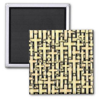 Golden Crosses Magnet