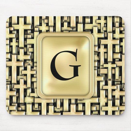 Golden Crosses Mouse Pad