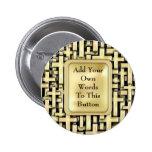 Golden Crosses Pinback Button