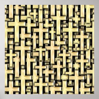 Golden Crosses Poster