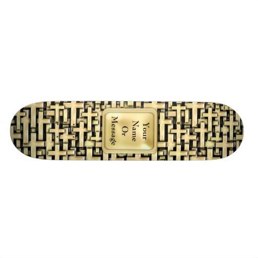 Golden Crosses Skate Board