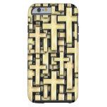 Golden Crosses Tough iPhone 6 Case