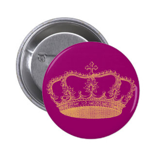 Golden Crown 2 Inch Round Button