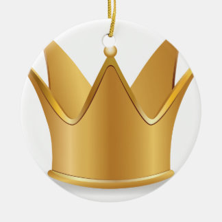 Golden crown ceramic ornament