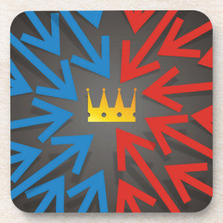 Golden crown drink coaster