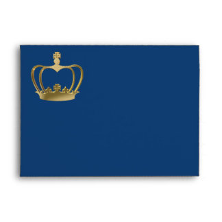Golden crown envelope