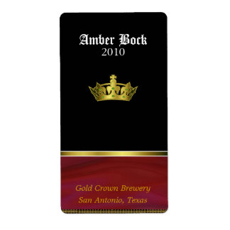 Golden Crown Home Made Beer Labels
