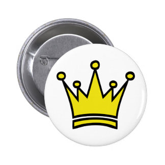 golden crown icon pinback button
