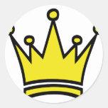 golden crown icon sticker