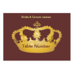 Golden Crown II Reception Place cards Large Business Cards (Pack Of 100)