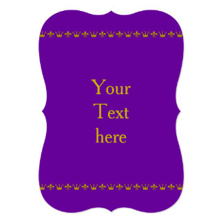 Golden Crown & Lily Border + your text & backgr. Card