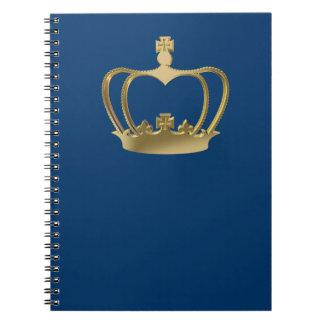 Golden crown notebook