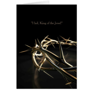 Golden Crown Of Thorns Card