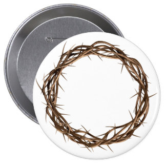 Golden Crown Of Thorns Pinback Button