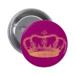 Golden Crown Pinback Buttons