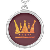 Golden Crown , Special Gift  Necklace