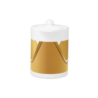 Golden crown teapot