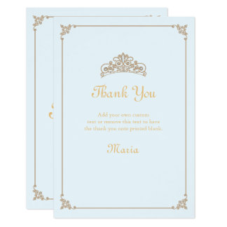 Golden Crown, Thank You Cards