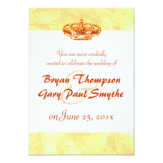 Golden Crown WEDDING Invitation