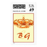 Golden Crown WEDDING postage