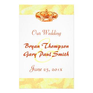 Golden Crown WEDDING Program flyer