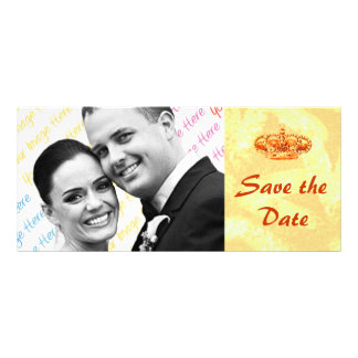 Golden Crown WEDDING Save-the-Date custom card