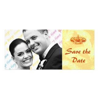 Golden Crown WEDDING Save-the-Date custom card