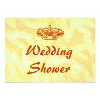 Golden Crown WEDDING Shower Invitations