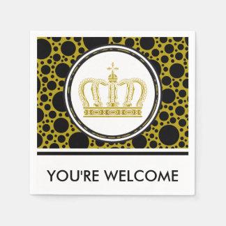 Golden Crown + your background & ideas Standard Cocktail Napkin