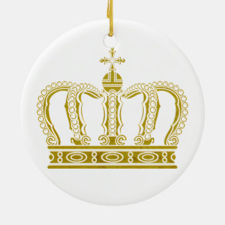 Golden Crown + your ideas Ceramic Ornament