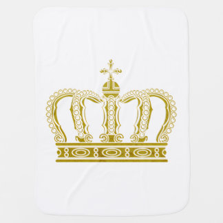 Golden Crown + your ideas Swaddle Blanket
