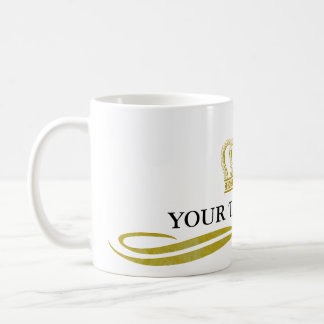 Golden Crown + your text & background Coffee Mug