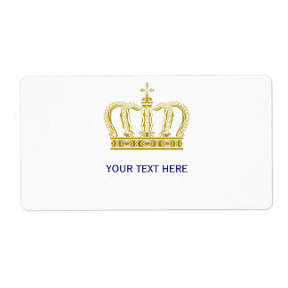 Golden Crown + your text Label
