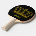Golden Crown + Your Text Ping-pong Paddle at Zazzle