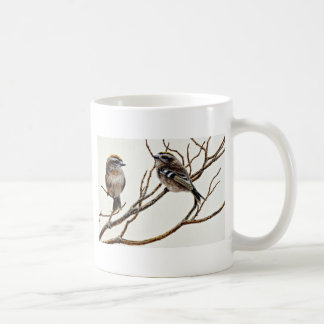 Golden-crowned kinglets (male and female) coffee mug