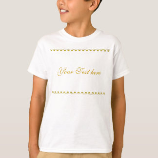 Golden Crowns Border + your text & background T-Shirt