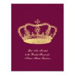 Golden Crowns Invitations