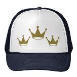 Golden crowns trucker hat