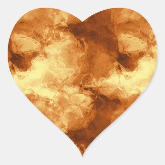 Golden Crushed Glass Heart Sticker