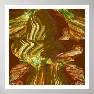 Golden Crystal Art : Healing Energy Aura Cleaning Poster