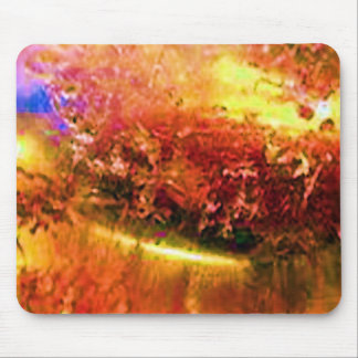 Golden Crystal Heart Mouse Pad